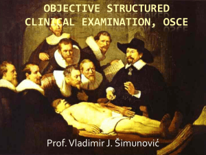 Objective structured clinical examination, OSCE