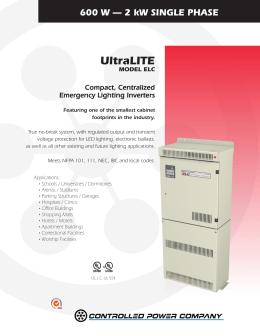 UltraLITE   Controlled Power CompanyCentralized Emergency Lighting Inverters. Eon Lighting Inverter. Home Design Ideas