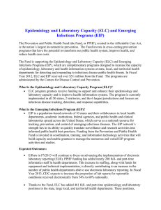 (ELC) and Emerging Infections Programs (EIP)