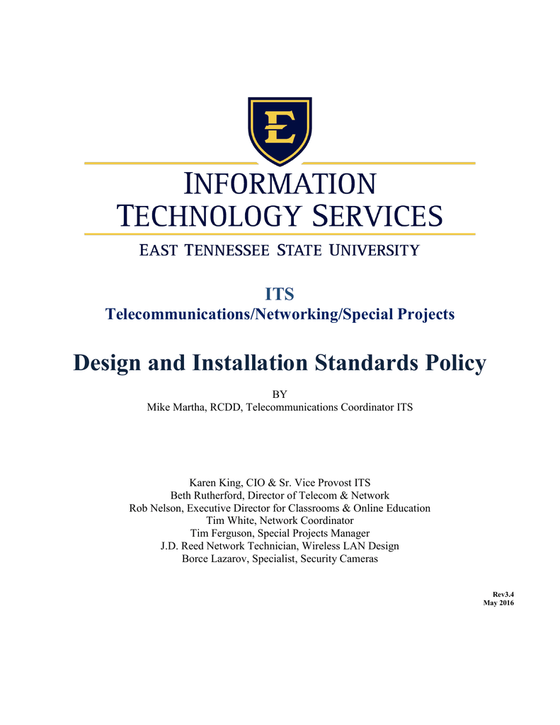 Design And Installation Standards Policy