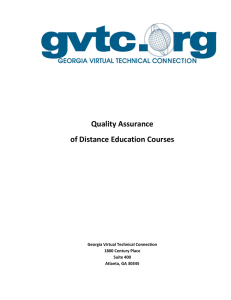 Quality Assurance of Distance Education Courses