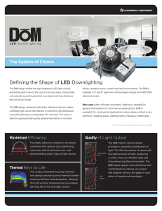 Defining the Shape of LED Downlighting