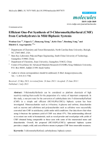 Efficient One-Pot Synthesis of 5-Chloromethylfurfural (CMF) from