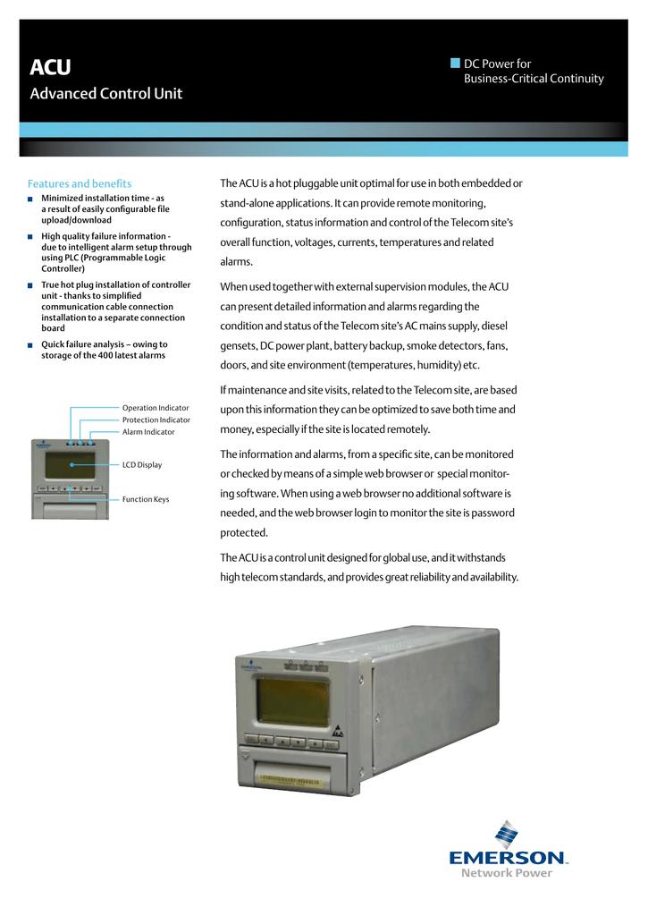 Advanced Control Unit