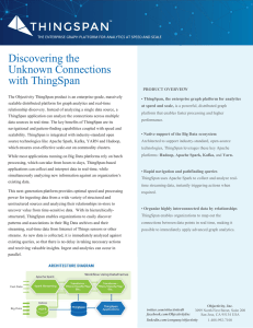 Discovering the Unknown Connections with ThingSpan