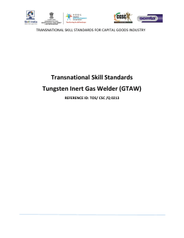 Tungsten Inert Gas Welder (GTAW)
