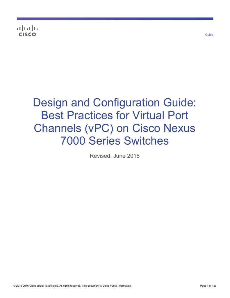Design and Configuration Guide: Best Practices for Virtual Port