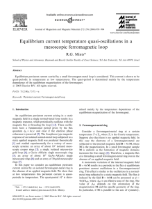 Equilibrium current temperature quasi