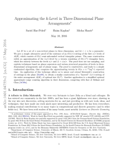 Approximating the k-Level in Three-Dimensional Plane