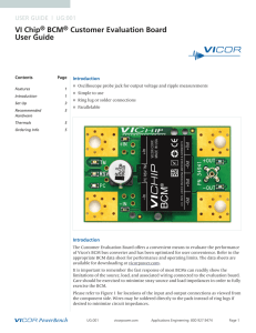 VI Chip® BCM® Customer Evaluation Board User Guide