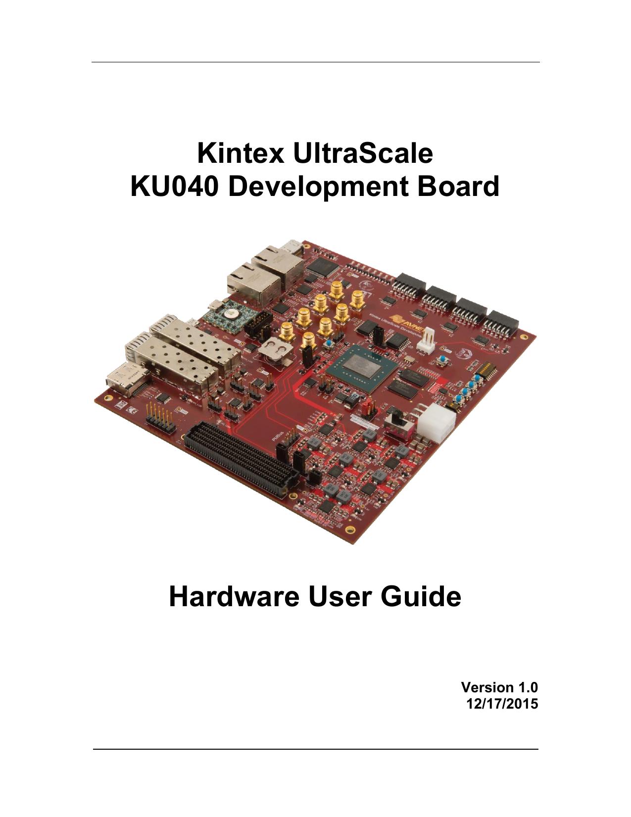 Kintex UltraScale KU040 Development Board Hardware User Guide