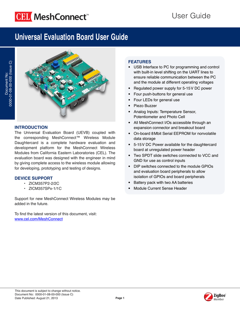 Universal Evaluation Board User Guide Circuit Attached To A Small Piezo Speaker And Powered By Two Aa 018503295 1 19ebf8d928078e8f7f4c38b5ba1909f0