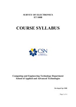 course syllabus - Computer Graphics Home