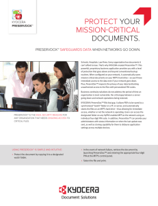 PROTECT YOUR MISSION-CRITICAL DOCUMENTS.