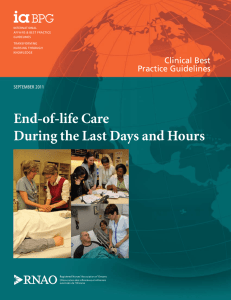 End-of-life Care During the Last Days and Hours