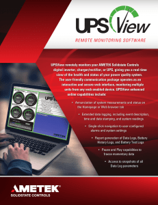 UPSView Brochure - AMETEK Solidstate Controls