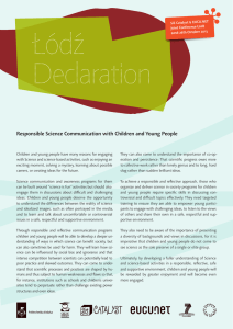 Responsible Science Communication with Children and Young