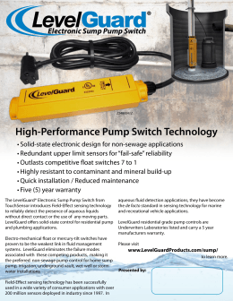 High-Performance Pump Switch Technology