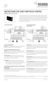 instructions for zone pump relay control