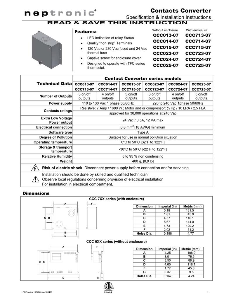 CCC Series - Neptronic on