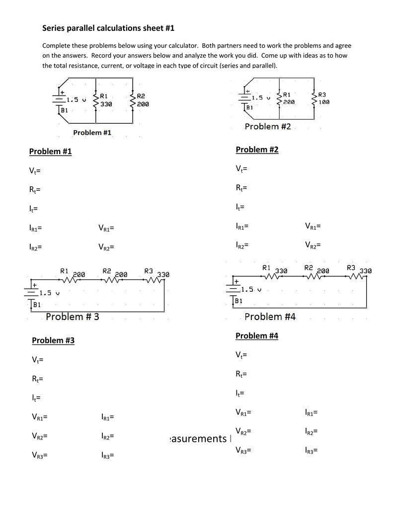 Series Parallel Circuit Hypothesis Statements Examples How To Use A Multimeter