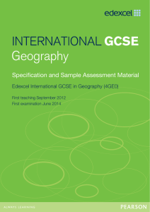 International GCSE Geography - Edexcel