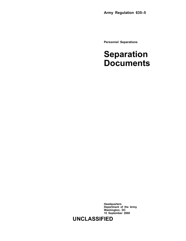 Separation Documents - Veterans to the DD214 Website!
