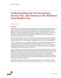 Understanding the Net Investment Income Tax, also known