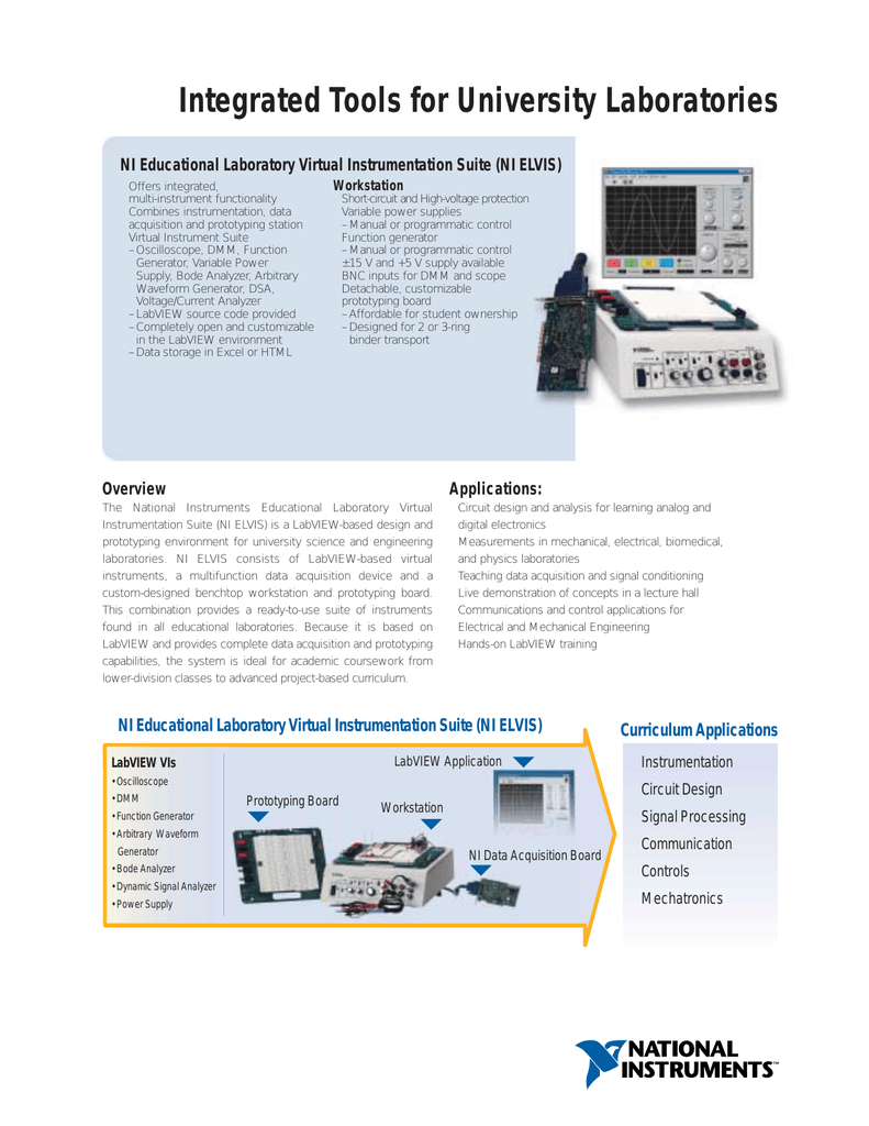Integrated Tools for University Laboratories