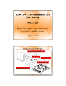 LabVIEW: Instrumentation Lab and Industry NI ELVIS Overview