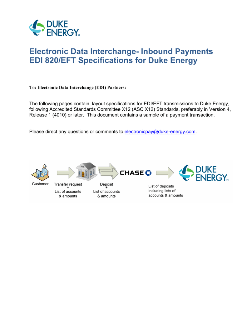 Electronic Data Interchange- Inbound Payments EDI