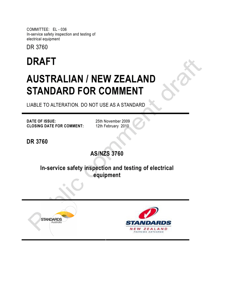 In Service Safety Inspection And Testing Of Electrical Equipment Australian Wiring Regulations