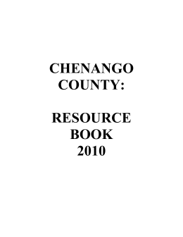 chenango county: resource book 2010