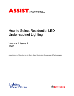 Volume 2, Issue 2: How to Select Residential LED Under