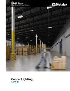 Metalux HBLED High Bay LED Luminaire brochure