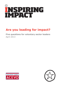 Are you leading for impact? - Community Development and Health