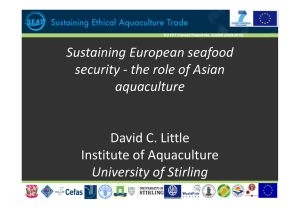 Sustaining European seafood g p f security