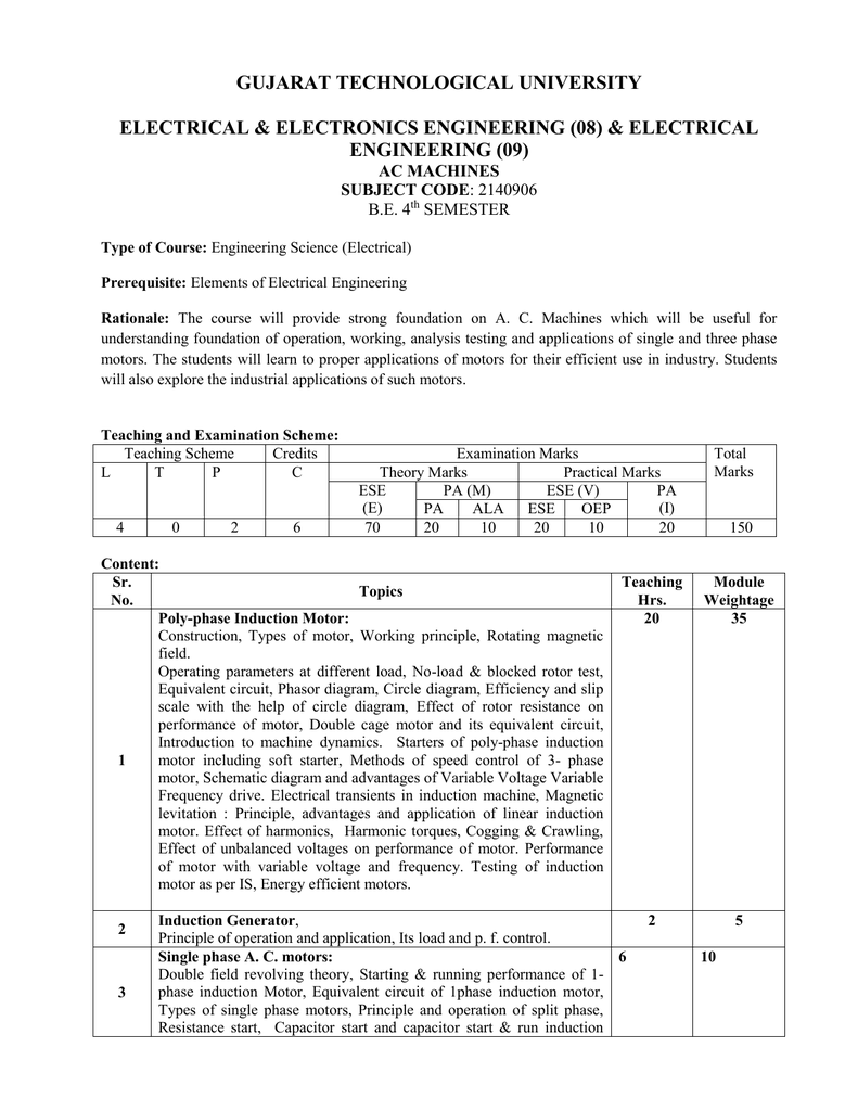 2140906 Gujarat Technological University How Does A Capacitor Start Motor Work