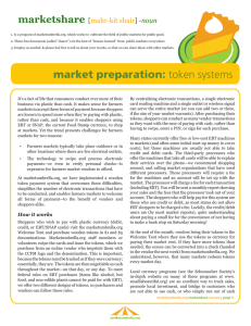 market preparation: token systems