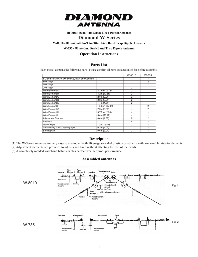 W-8010 - Diamond®Antenna