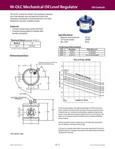 W-OLC Mechanical Oil Level Regulator