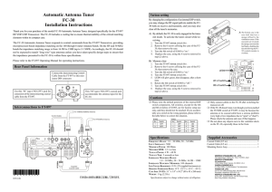 FC-30 Installation Instructions