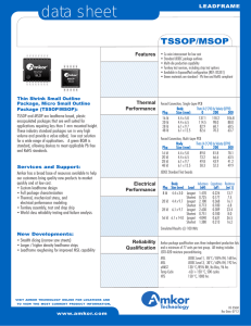 Amkor TSSOP / MSOP Data Sheet