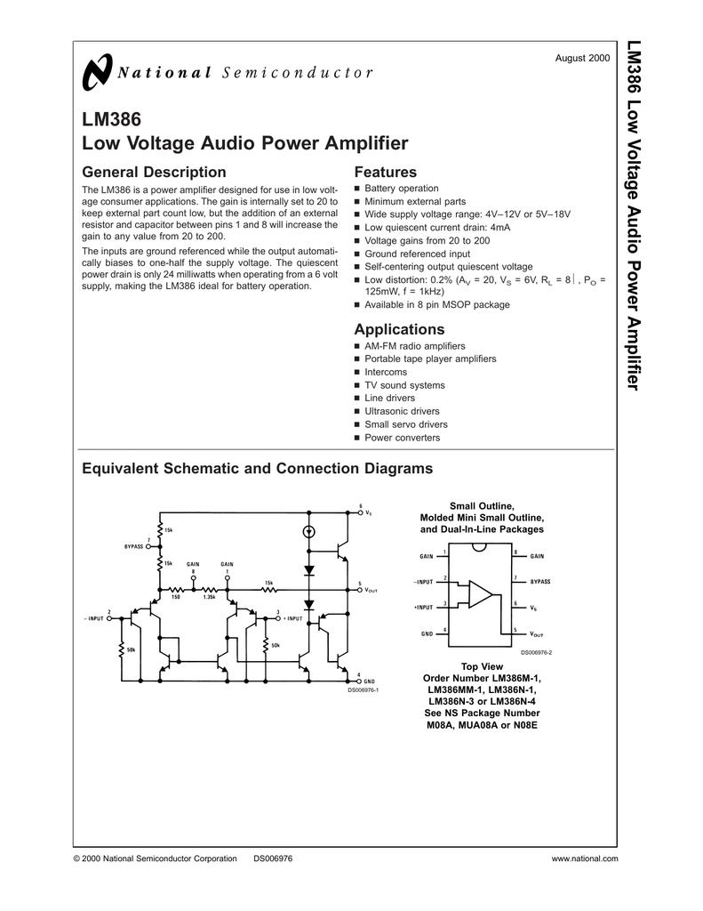 Lm386 Low Voltage Audio Power Amplifier Mini Intercom Circuit Diagram 018508412 1 5f527ec45aec10d0d2832cec6d8d07b8