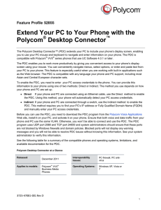 Extend Your PC to Your Phone with the Polycom