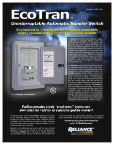 Uninterruptable Automatic Transfer Switch