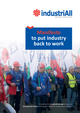 Manifesto to put industry back to work