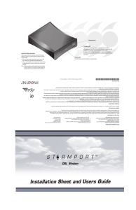 StormPort 610 DSL Modem Installation Sheed and Users
