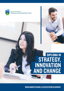 STRATEGY, INNOVATION AND CHANGE
