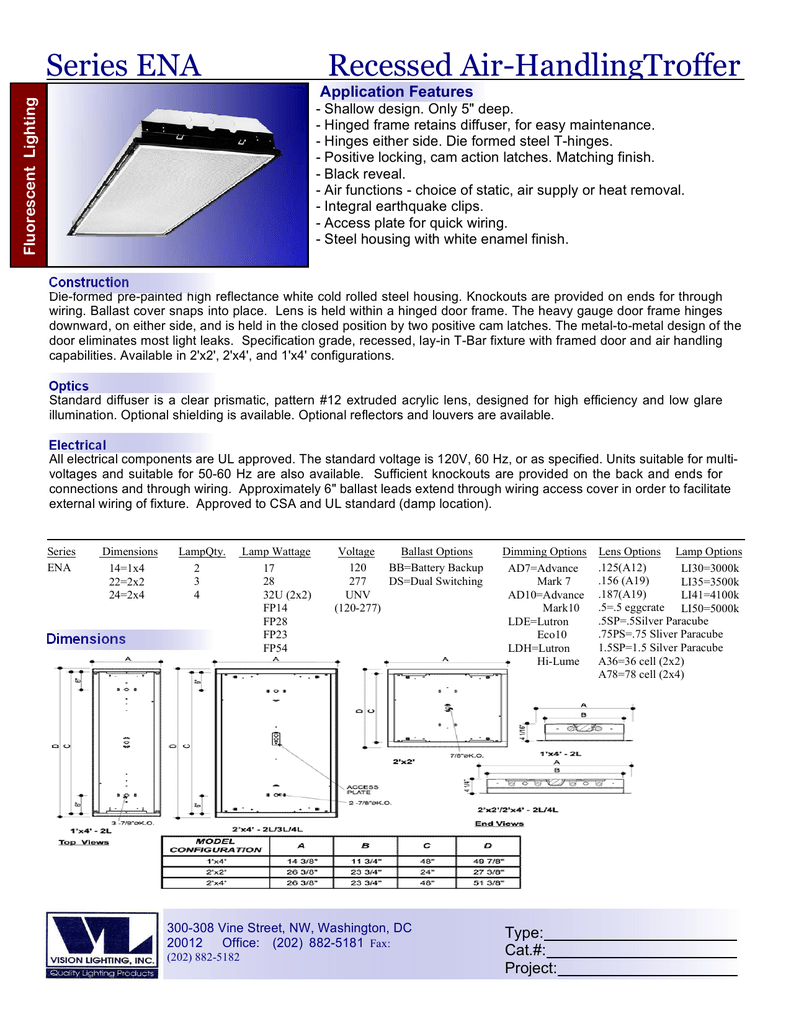 Recessed Air-Handling Troffer f